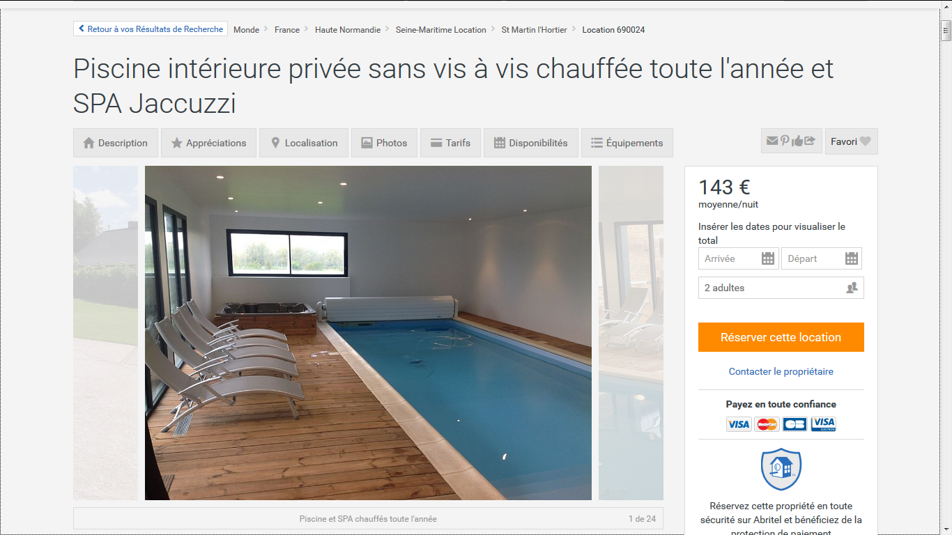 Les bonnes adresses de locations muslim friendly en france for Location piscine privee paris
